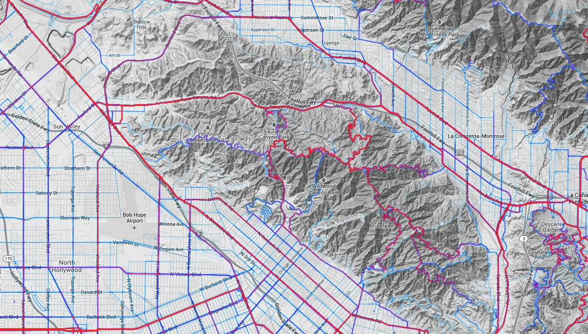 Mapping Millions Of Runs And Rides SoCalGISorg - Running map planner