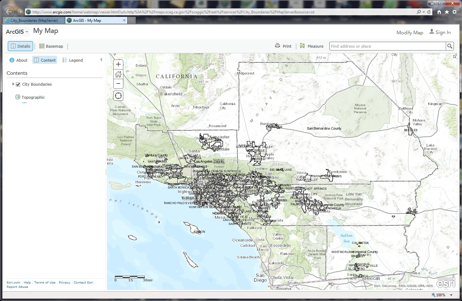 Extracting Features from Map Services | SoCalGIS org
