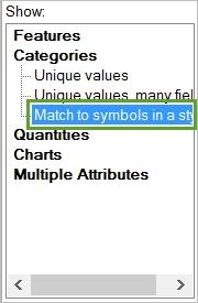 matchtosymbolarcmap